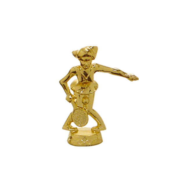 Female Comic Tennis Gold Trophy Figure