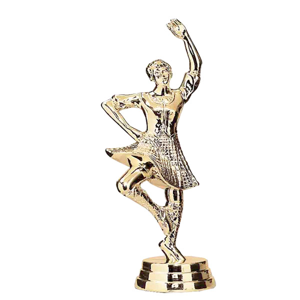 Highland Dancer Gold Trophy Figure