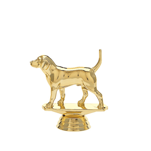 Beagle Dog Gold Trophy Figure