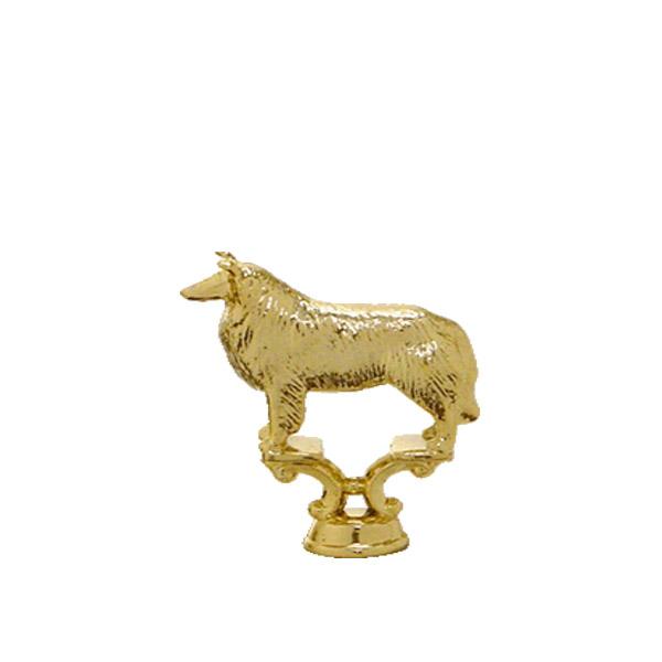 Collie Dog Gold Trophy Figure