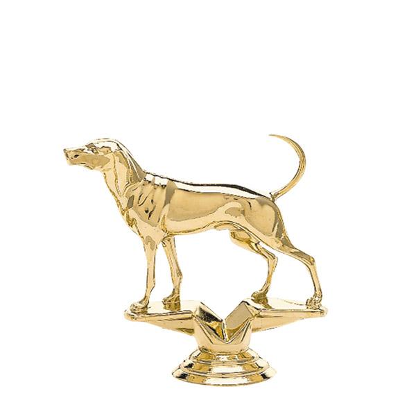Coohound Dog Gold Trophy Figure