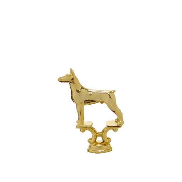 Doberman Dog Gold Trophy Figure
