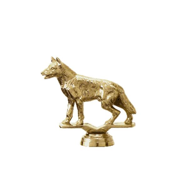 German Shepherd Dog Gold Trophy Figure
