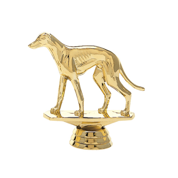 Greyhound Dog Gold Trophy Figure