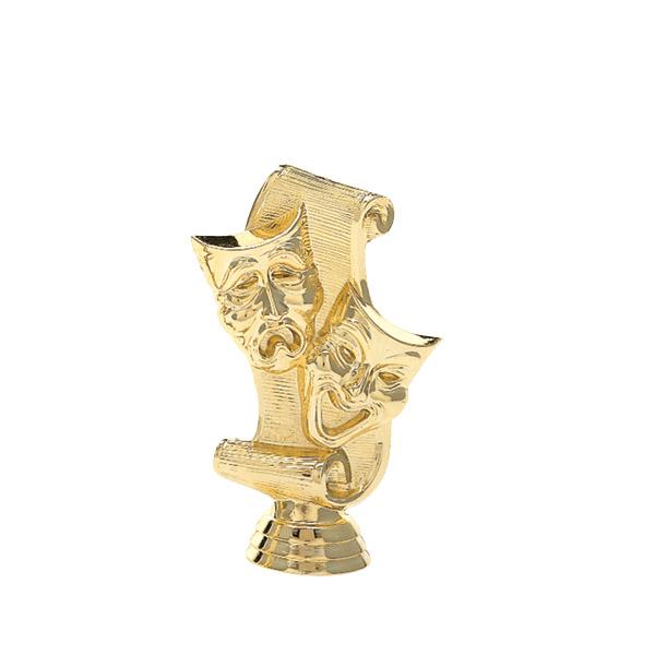 Drama Mask Gold Trophy Figure