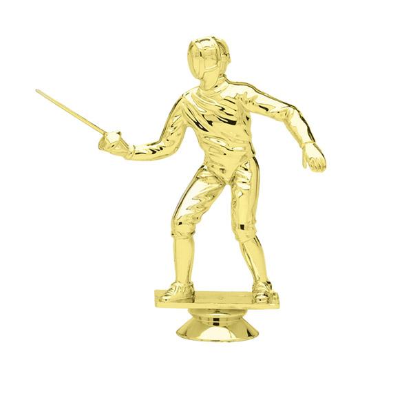 Female Fencing Gold Trophy Figure