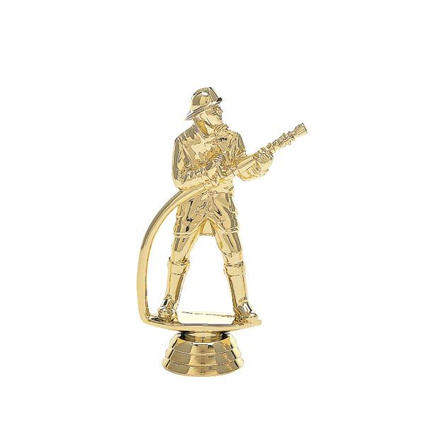 Fireman w/ Hose Gold Trophy Figure