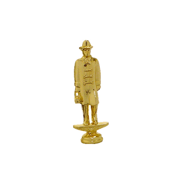 Fireman w/ Lantern Gold Trophy Figure