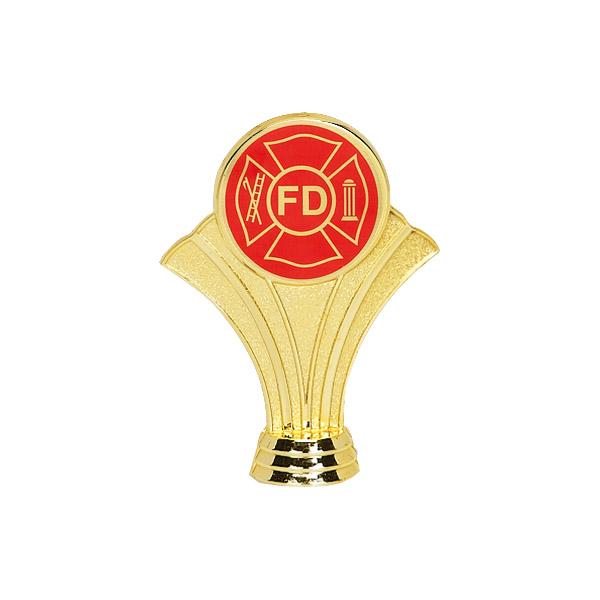 Maltese Cross Gold Trophy Figure