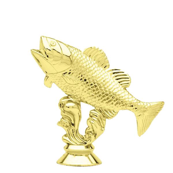 Bass Fish Gold Trophy Figure