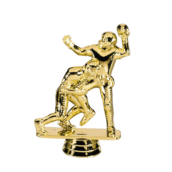 Football Double Action Tackler Gold Figure Trophy