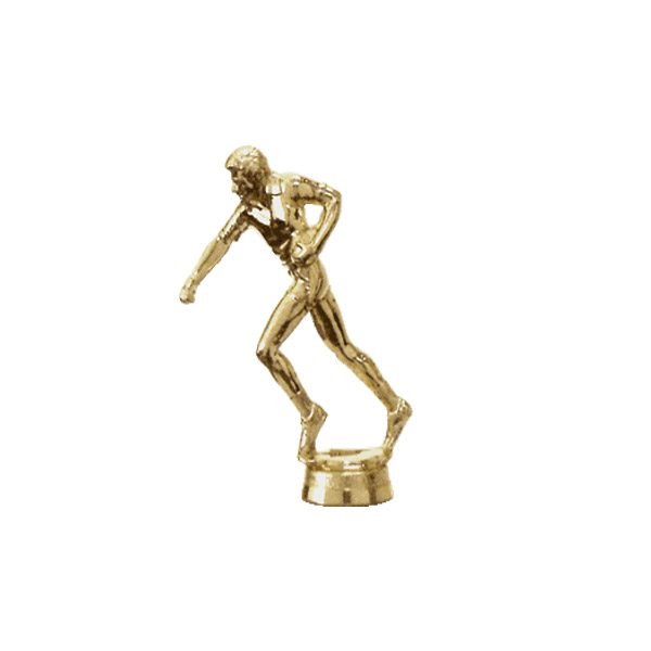 Male Football Flag Gold Trophy Figure
