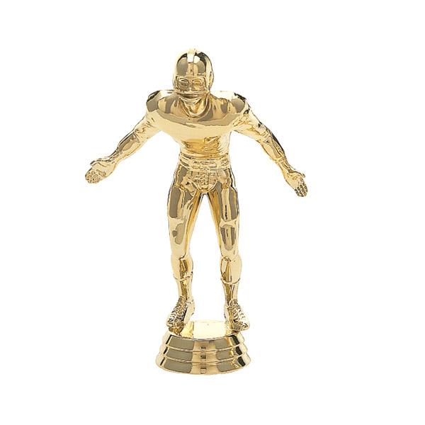 Football Lineman Gold Trophy Figure