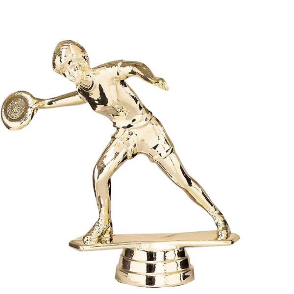 Female Frisbee Gold Trophy Figure