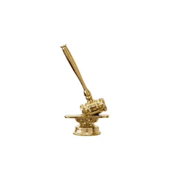 Gavel Gold Trophy Figure