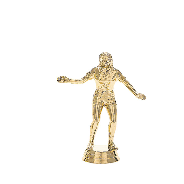 Female Handball Gold Trophy Figure