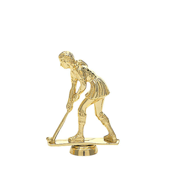 Field Hockey Female Gold Trophy Figure