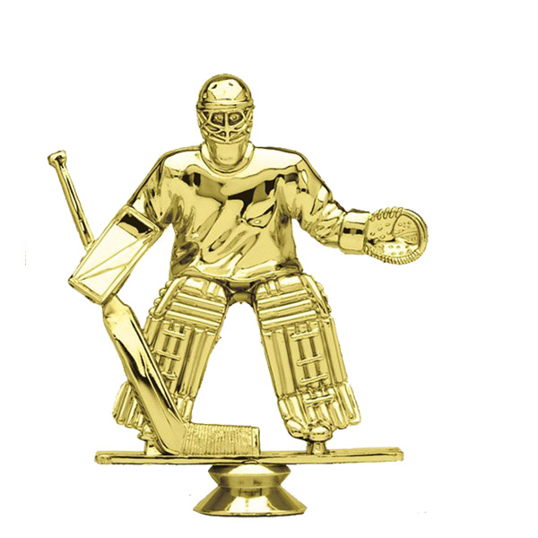 Ice Hockey Goalie Gold Trophy Figure