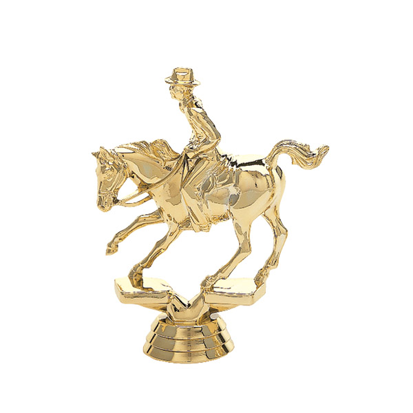 Cutting Horse Gold Trophy Figure