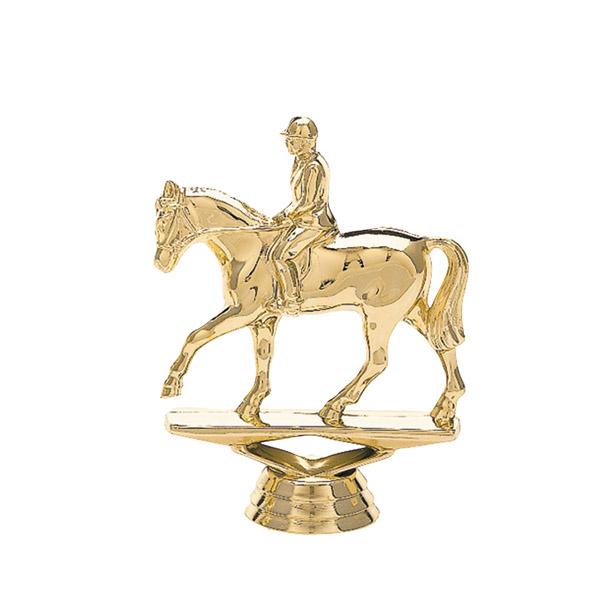 Equestrian Horse Gold Trophy Figure