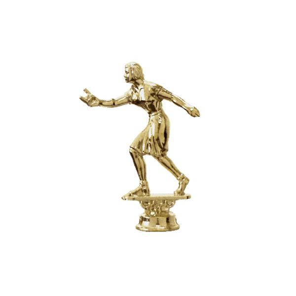 Horseshoe Pitch Female Gold Trophy Figure