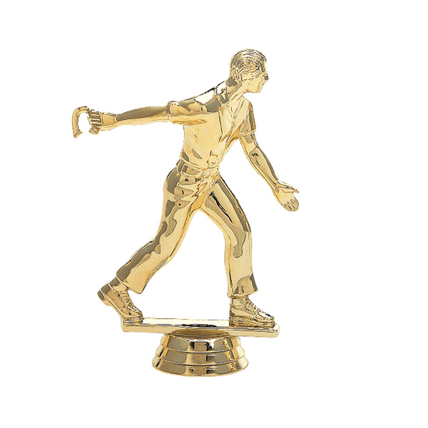 Horseshoe Pitcher Male Gold Trophy Figure