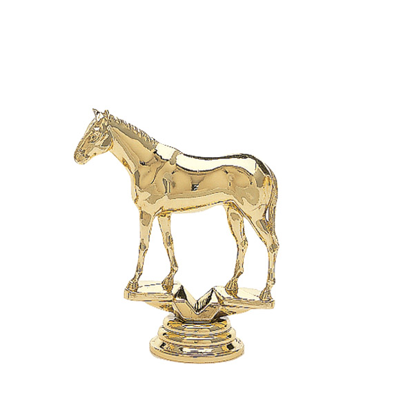 Thoroughbred Horse Gold Trophy Figure