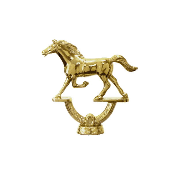 Trotter Horse Gold Trophy Figure