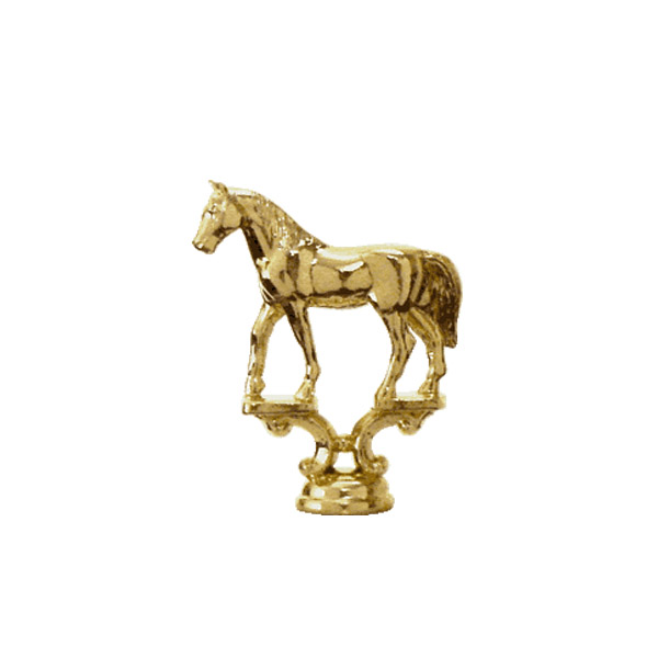 Western Plain Horse Gold Trophy Figure