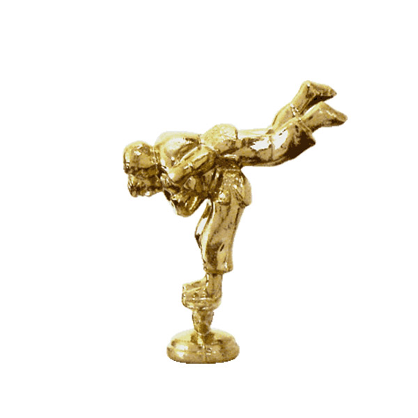 Double Judo Male Gold Trophy Figure
