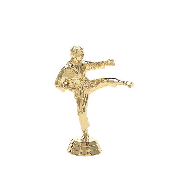 Karate Kick Male Gold Trophy Figure