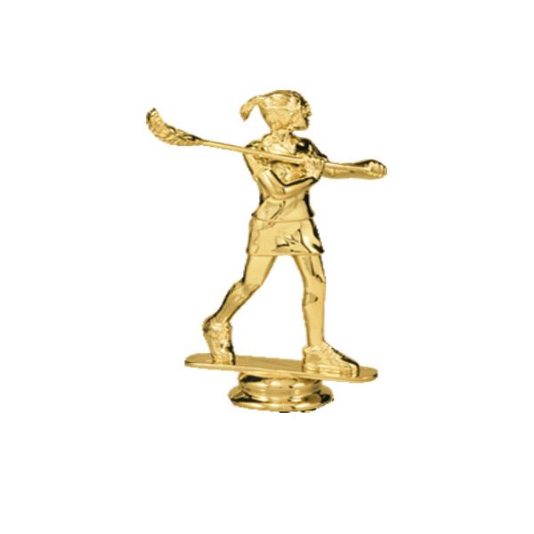 Lacrosse Female Gold Trophy Figure