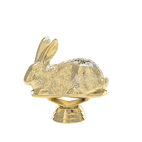 Rabbit Gold Trophy Figure