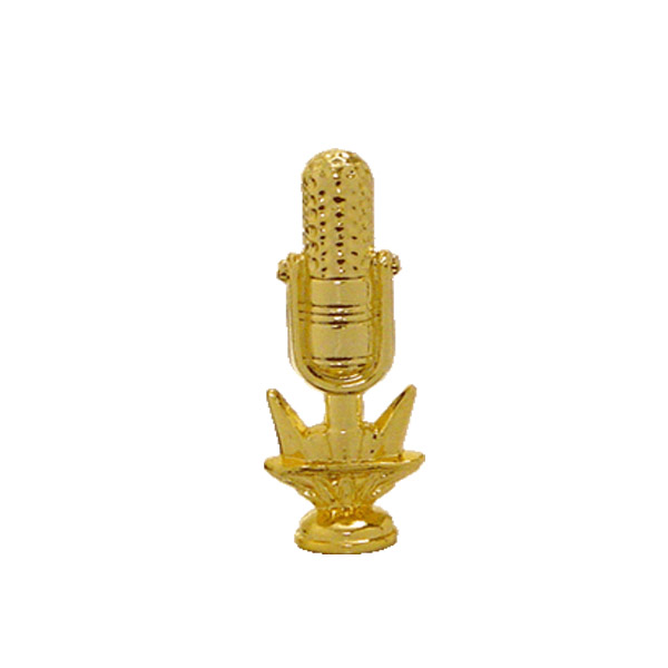 Microphone Radio Gold Trophy Figure