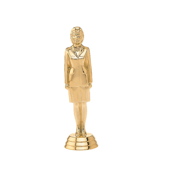 Female Military Dress gold trophy figure