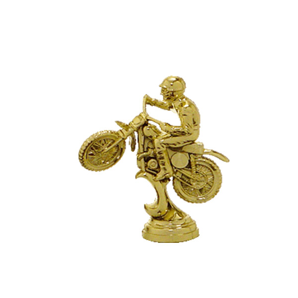 Scrambler Motorcycle Gold Trophy Figure