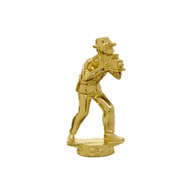 Speed Graphic Camera Gold Trophy Figure