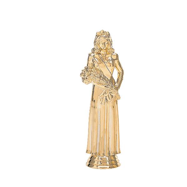 Beauty Queen in Gown Gold Trophy Figure