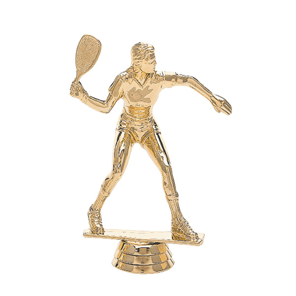 Racquetball Female Gold Trophy Figure