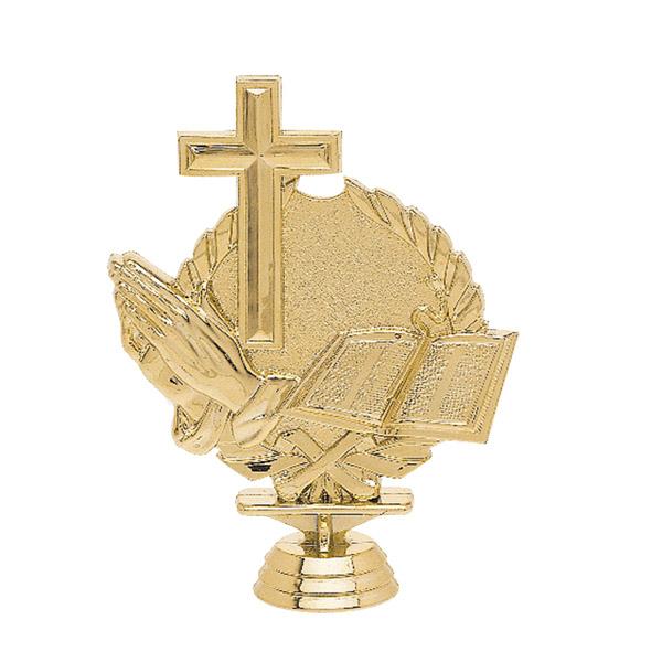 Religious 3-D Gold Trophy Figure