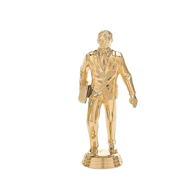 Salesman w/Briefcase Gold Trophy Figure