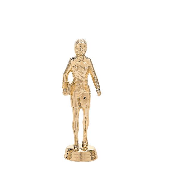 Saleswoman w/Briefcase Gold Trophy Figure