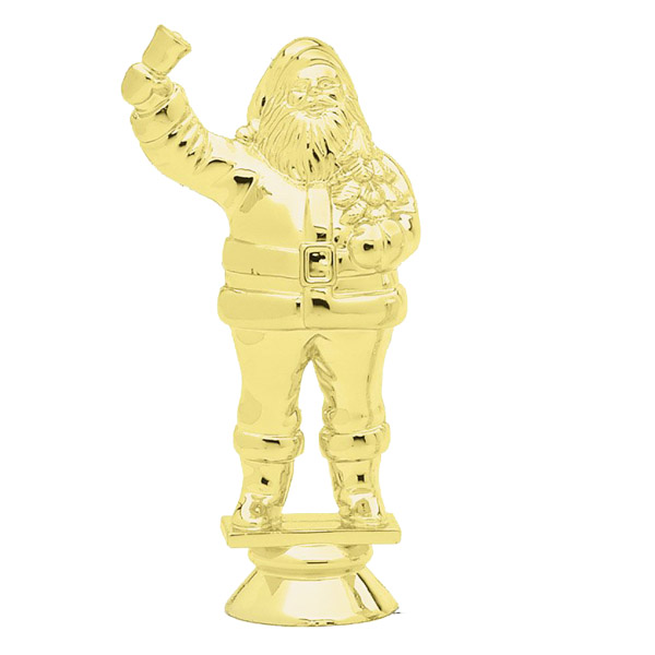 Santa Claus Gold Trophy Figure