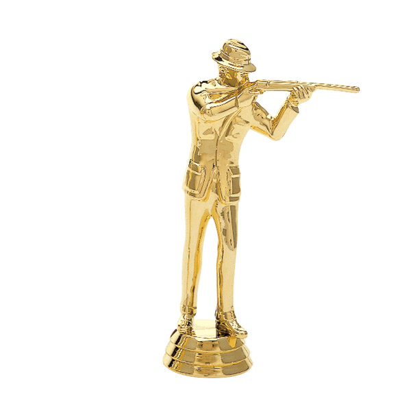 Civilian Rifle Male Gold Trophy Figure