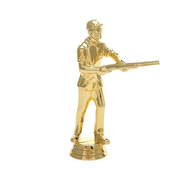 Skeetshooter Male Gold Trophy Figure