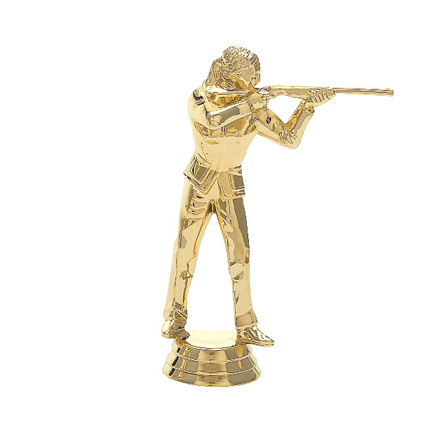 Trap Shooter Female Gold Trophy Figure