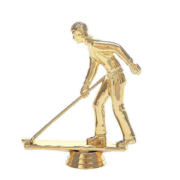 Shuffleboard w/Deck Male Gold Trophy Figure
