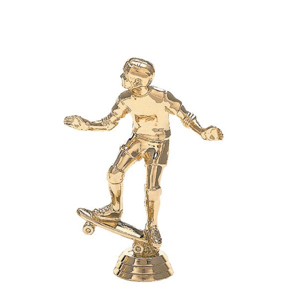Skateboard w/Rider Gold Trophy Figure