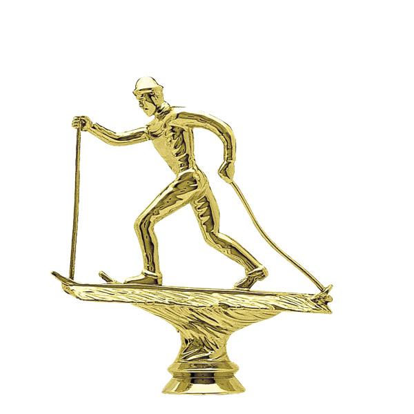 Cross Country Skier Male Gold Trophy Figure
