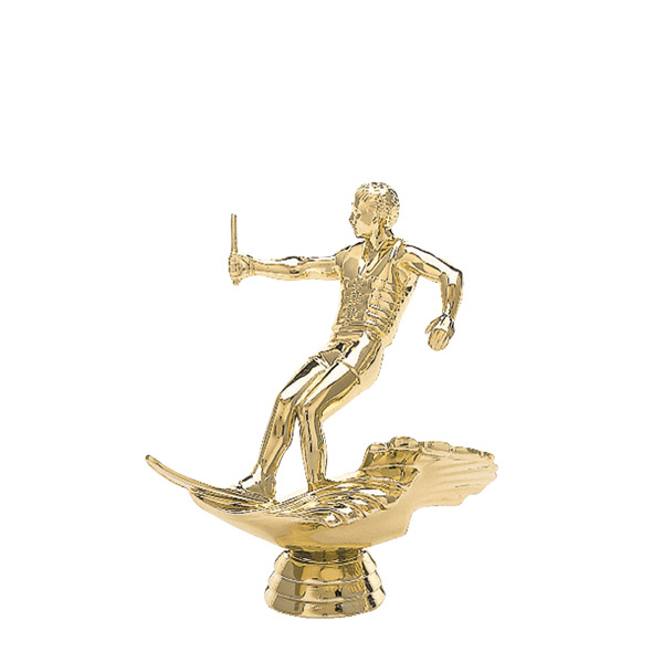 Water Skier Male Gold Trophy Figure